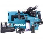 Makita DHR243RTJV 18V Li-Ion Accu SDS-plus combihamer incl. snelspanboorkop en stofafzuiging set (2x 5.0Ah accu) in Mbox - 2J - koolborstelloos