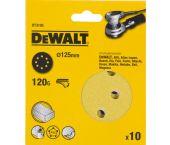 DeWalt DT3105 Schuurschijf - K120 - 125mm (10st) - DT3105-QZ