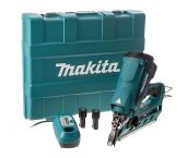 Makita GN900SE 7,2V Li-Ion accu gastacker set (2x 1.0Ah accu) in koffer - 50-90mm