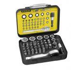 "Stanley 1-13-906 40 delige Bitset Expert Pro 1/4"" - Ratelsleutel in koffer"
