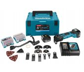 Makita DTM41RTJX3 14.4V Li-Ion Accu multitool set (2x 5.0Ah accu) + 42 delige accessoireset in Mbox - snelwissel