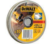DeWalt DT42340TZ Doorslijpschijf in blik - 125 x 22,23 x 1,2mm - inox (10st) - DT42340TZ-QZ