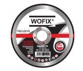 Wofix 5203125 Doorslijpschijf - 125 x 22,23 x 1mm - RVS - inox
