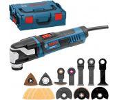 Bosch GOP 55-36 Multitool + 35 delige accessoireset in L-Boxx - 550W - 0601231101