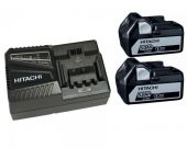 Hitachi 714911 Powerpack 18V Li-Ion accu starterset (2x 5.0Ah) + lader - 714911