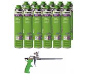 Illbruck PUR Set inclusief pistool en 12x FM310