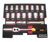 """Stanley FMHT0-74297 20 delige 1/2"""" doppenset in FatMax TSTAK insert"""
