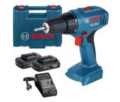 Bosch GSR 1800-LI 18V Li-Ion accu boor-/schroefmachine body (2x 1.5Ah accu) in koffer - 06019A8305