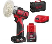 Milwaukee M12 BPS-421X 12V Li-Ion accu Schuur-/polijstmachine set (1x 4.0Ah & 1x 2.0Ah accu) in HD Box - 76mm - 4933447799