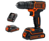 Black and Decker DCDC18B 18V Li-Ion accu boor-/schroefmachine set (2x 1.5Ah accu) - DCDC18B-QW