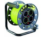 Masterplug Pro-XT Kabelhaspel - 25m - 4 stopcontacten - OMG25164SL-PX