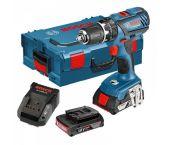 Bosch GSB 18-2 LI Plus 18V Li-Ion accu klopboor-/schroefmachine set (2x 2.0Ah accu) in L-Boxx - 06019E7100