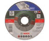 Bosch 2609256332 5-delige Doorslijpschijvenset voor metaal - Gebogen - 115mm