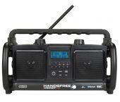 PerfectPro HANDSFREE Bouwradio - FM RDS - DAB+ - bluetooth - aux-in - netstroom & batterij (batterijen inbegrepen)