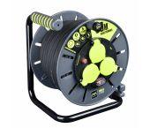 Masterplug Pro-XT Kabelhaspel - 30m - 3 stopcontacten - IP44 - OLG3016RR3IPSL-PX
