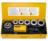 """Rems Amigo 2 Set R 1/2-3/4-1-1 1/4-1 1/2-2"""" Draadsnijmachine incl. Snelwisselsnijkoppen in stalen koffer - 540020"""