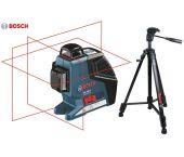 Bosch GLL 3-80 P kruislijnlaser in tas + statief (BT 150) - 40m - 0601063306