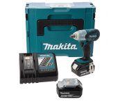 "Makita DTW251RMJ 18V Li-Ion Accu slagmoersleutel set (2x 4.0Ah accu) in Mbox - 230Nm - 1/2"""