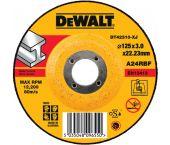 DeWalt DT42310 Doorslijpschijf met verzonken centrum - 125 x 22,23 x 3mm - metaal - DT42310-XJ