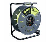 Masterplug Pro-XT Kabelhaspel - 50m - 4 stopcontacten - OXLG50164SL-PX