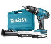 Makita HP457DWE 18V Li-Ion accu klopboor-/schroefmachine set (2x 1.3Ah accu) in koffer