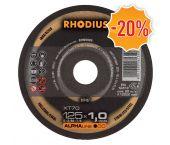 Rhodius ALPHALine I XT70 Doorslijpschijf - Extra dun - 125 x 22,23 x 1mm - RVS/Staal (25st) - 211078