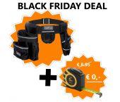 ToolPack 360.019 Specter Robuuste Gereedschapsgordel met 2 holsters - + gratis rolmaat t.w.v. €8.50