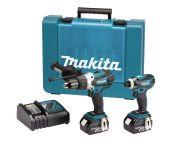 Makita DLX2005 18V Li-Ion accu klopboor-/schroefmachine (DHP458) & slagschroevendraaier (DTD146) combiset (2x 3.0Ah accu) in koffer