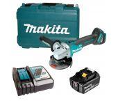 Makita DGA504RF 18V Li-Ion Accu haakse slijper set (1x 3.0Ah accu) in koffer - 125mm - koolborstelloos