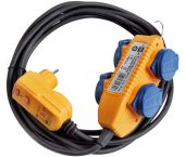 Brennenstuhl 1168720010 Adapterkabel FI IP44 met contactdozenblok - H07RN-F 3G1,5 - 5m