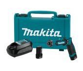Makita DF012DSE 7,2V Li-Ion accu boor-schroefmachine set (2x 1,5Ah accu) in koffer