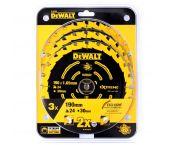 DeWalt DT10399 Constructie Cirkelzaagbladen set - 190 x 30 x 24T (3st) - Hout - DT10399-QZ