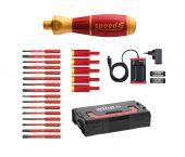 Wiha 590 T103 speedE schroevendraaier set 3 met slimBits in L-Boxx Mini - 25 delig - PH/PZ/Sleuf/Torx - 41913