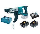 Makita DFR550RTJ 18V Li-Ion accu schroefautomaat / bandschroefmachine set (2x 5.0Ah accu) in Mbox - 25-55mm