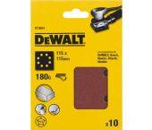 DeWalt DT3024 Vlak schuurvel - K180 - 115 x 115mm (10st) - DT3024-QZ