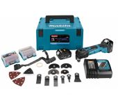 Makita DTM51RTJX3 18V Li-Ion Accu multitool set (2x 5.0Ah accu) + 42 delige accessoireset in Mbox - snelwissel