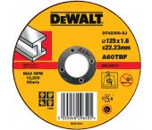 DeWalt DT42300 Rechte doorslijpschijf - 125 x 22,23 x 1,6mm - metaal - DT42300-XJ