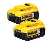 DeWalt DCB184-2 18V Li-ion accu duopack (2x DCB184) - 5.0Ah