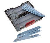 Bosch 2607010901 15 delige Reciprozaagbladen set in koffer - Hout/Metaal