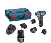 Bosch GSR 12V-15 FC 18V Li-Ion accu boor-/schroefmachine set (2x 2.0Ah accu) in L-Boxx incl. 4 opzetstukken - 06019F6000