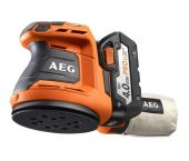 AEG BEX18-125 LI-402C 18V Li-Ion Accu excentrische schuurmachine set (2x 4.0Ah accu) in koffer - 125mm - 4935451087