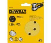 DeWalt DT3115 Schuurschijf - K120 - 125mm (25st) - DT3115-QZ