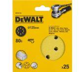 DeWalt DT3113 Schuurschijf - K80 - 125mm (25st) - DT3113-QZ