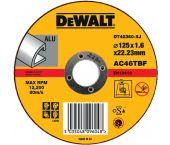 DeWalt DT42360 Rechte doorslijpschijf - 125 x 22,23 x 1,6mm - aluminium - DT42360-XJ