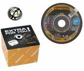 Rhodius PROline ll XT38 Doorslijpschijvenset incl. snelspanmoer - Extra dun - 125 x 22,23 x 1,0mm - RVS/Staal (50st)