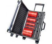 Carat HTESET0000 CDCE Brilliant Diamantdroogboorset - 32 / 52 / 82 / 112 / 132 mm + adapters in koffer