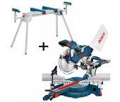 Bosch GCM 10 SD Telescopische afkort- en verstekzaagmachine incl. onderstel (G2600) - 1800W - 254 x 30mm - 0615990CD9