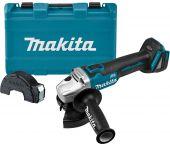 Makita DGA504Z 18V Li-Ion Accu haakse slijper body + GRATIS koffer - 125mm - koolborstelloos