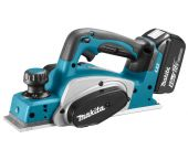 Makita DKP180RTJ 18V Li-Ion Accu schaafmachine set (2x 5.0Ah accu) in Mbox - 82mm - 2mm