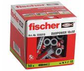 fischer 555010 DUOPOWER Universele pluggen - 10 x 50 mm (50st)